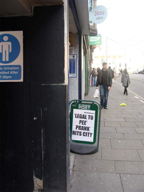 Public Urination Headline